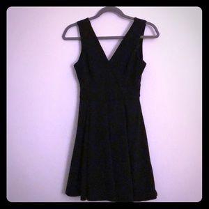 Little black dress with gold zipper